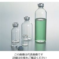 アズワン バイアル瓶(ゴム栓アルミキャップ付き) 100mL NO.8 1箱(50本入) 5-111-08 (直送品)