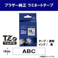 ブラザー ピータッチテープ 18mm 透明テープ(黒文字) 1個 TZe-141