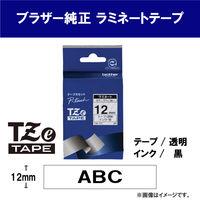 ブラザー ピータッチテープ 12mm 透明テープ(黒文字) 1個 TZe-131