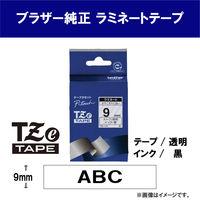 ピータッチ 9ミリ 透明テープ 黒文字