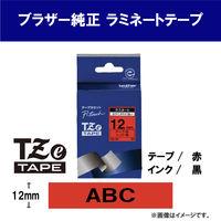 ピータッチ 12ミリ 赤テープ 黒文字
