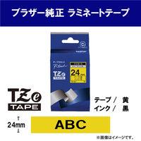 ブラザー ピータッチテープ 24mm 黄テープ(黒文字) 1個 TZe-651