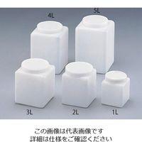 日本メデカルサイエンス ハイルーテ角瓶(PE製) 1L 1000 1個 5-355-01 (直送品)
