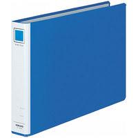 コクヨ リングファイル貼り表紙タイプ 丸型2穴 A4ヨコ 背幅45mm 4冊 青 フ-435NB