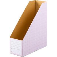 ボックスファイル A4タテ 5冊 ダンボール製 ピンク アスクル