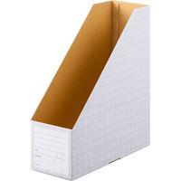ボックスファイル A4タテ 5冊 ダンボール製 グレー アスクル