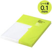 クリアホルダー 超薄型 A4 1袋(100枚) アスクル ファイル
