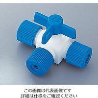 アズワン フッ素樹脂製三方コック(ロック締め) 016.1304.2 1個 5-5366-12 (直送品)