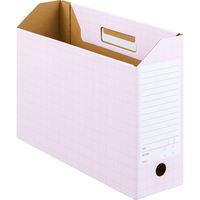 ボックスファイル A4ヨコ 5冊 ダンボール製 ピンク アスクル