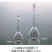 アズワン 透明摺りメスフラスコ(硬質ガラス製) 白 100mL 1個 6-243-06 (直送品)