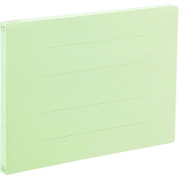 アスクル フラットファイル A4ヨコ エコノミータイプ 10冊 グリーン 緑