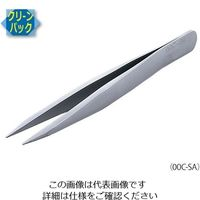 アズワン MEISTER ピンセット SA(耐酸鋼)製 クリーンパック No.00C 00C-SA 1本 6-7905-11 (直送品)
