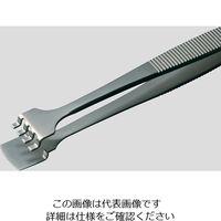 アズワン MEISTERピンセット ウェハー用 幅広 耐酸鋼 41LB5-SA 1本 6-7907-08 (直送品)