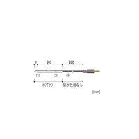 温度センサ(中心温度)ステンレス保護管(SUS304)300mm/φ6.0mm TR-0506 6-8030-14 (直送品)
