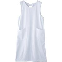 フランシュリッペ エプロン(ロング丈) ホワイト MS-21071 医療白衣 エプロン 予防衣 1枚 (取寄品)