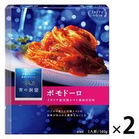 日清フーズ 青の洞窟 イタリア産完熟トマト果肉のポモドーロ 140g 1セット(2袋入)
