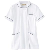 フランシュリッペ チュニックパイピングカラー ホワイト M MS-21011 医療白衣 ナースジャケット 1枚 (取寄品)