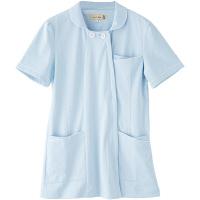 フランシュリッペ チュニックパイピングカラー サックス LL MS-21011 医療白衣 ナースジャケット 1枚 (取寄品)