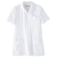 フランシュリッペ チュニックラウンドカラー ホワイト M MS-21021 医療白衣 ナースジャケット 1枚 (取寄品)