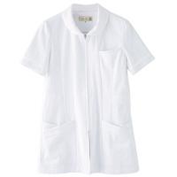 フランシュリッペ チュニックラウンドカラー ホワイト L MS-21021 医療白衣 ナースジャケット 1枚 (取寄品)