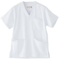 フランシュリッペ 半袖スクラブ ホワイト M MS-21031 医療白衣 レディススクラブ 1枚 (取寄品)