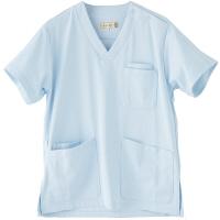 フランシュリッペ 半袖スクラブ サックス M MS-21031 医療白衣 レディススクラブ 1枚 (取寄品)