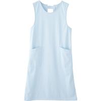フランシュリッペ エプロン(ロング丈) サックス MS-21071 医療白衣 エプロン 予防衣 1枚 (取寄品)