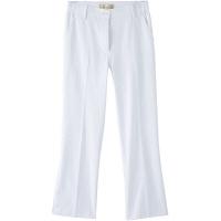 フランシュリッペ シャーリングパンツ(スリム) ホワイト L MS-21052 医療白衣 ナースパンツ 1枚 (取寄品)