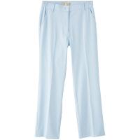 フランシュリッペ シャーリングパンツ(スリム) サックス LL MS-21052 医療白衣 ナースパンツ 1枚 (取寄品)