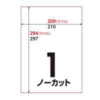 アスクル マルチラベルプリンターラベル ノーカット 1袋(100シート入)