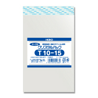 HEIKO クリスタルパック T10-15 横100×縦150+フタ40mm 6740700 OPP袋 透明封筒 1袋(100枚入) シモジマ