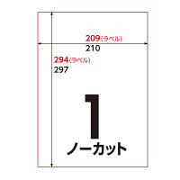 アスクル マルチプリンターラベル ノーカット 1箱(100シート入×5袋)