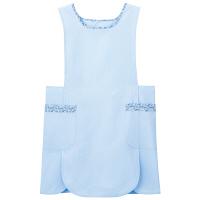 ナガイレーベン ケアガウン ブルー L LBE-4320 エプロン 予防衣 1枚 (取寄品)