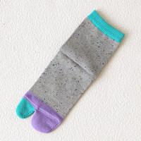 靴下屋 キッズ ネップカラフル足袋ソックス16~18cm シルバーグレー Tabio(タビオ)
