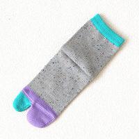 靴下屋 キッズ ネップカラフル足袋ソックス19~21cm シルバーグレー Tabio(タビオ)