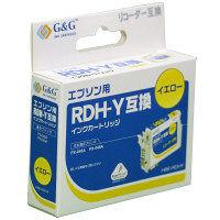 【アウトレット】G&G 互換インク HBEーRDHY/イエロー (エプソン RDH-Y互換) 1個