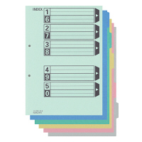 カラー仕切カード(フラットファイル用)A4タテ 5山 シキ-250 100組 コクヨ