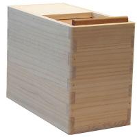 朝倉家具 〈お米にやさしい〉国産桐米びつ 10kg用(一合マス付) (取寄品)