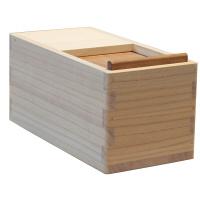朝倉家具 〈お米にやさしい〉国産桐米びつ 5kg用(一合マス付) (取寄品)