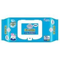 大王製紙 アテント流せるおしりふき無香料 733359 1箱(72枚×12パック) (取寄品)