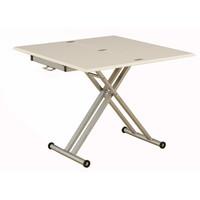 筑波産商 シグ 90 EXテーブル MDF/WH 幅900×奥行450~900×高さ380~740mm 1台 (取寄品)