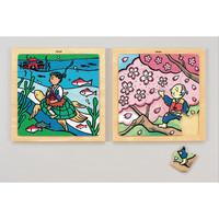 プラス 日本昔話木のジグソーパズル浦島太郎/花咲じいさん AS410 (取寄品)