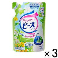 【アウトレット】花王 フレグランスニュービーズジェル ヴァーベナの香り 680g  つめかえ 1セット(3個:1個×3)
