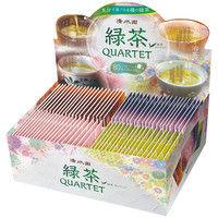 清水園 産地別煎茶ティーバッグ 緑茶カルテット 1セット(240バッグ:80バッグ入×3箱)