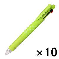 【アウトレット】ゼブラ クリップオンマルチ 4色ボールペン+シャープペン ドットライトグリーン 1箱(10本入) B-B4SA1-DTLG
