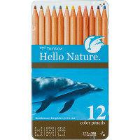 色鉛筆12色 イルカ 缶入り トンボ鉛筆