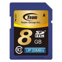 TEAM SDHCカード 8GB Class10 ( TG008G0SD28K )