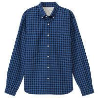 無印 インディゴチェックシャツ 紳士 M