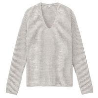 無印 畦編みセーター 婦人 S グレー