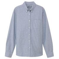 無印 オックスボタンシャツ 婦人L 紺
